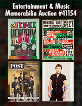 Catalog cover for 2020 December 6 Entertainment & Music Memorabilia Online Auction