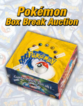 Catalog cover for 2021 October 4 Unlimited Base Set Booster Box Break Trading Card Games Showcase Auction