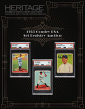 Catalog cover for 2019 January 24  1933 Goudey PSA Set Registry Catalog Auction - Dallas