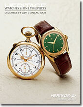Catalog cover for 2009 December Signature Timepieces Auction