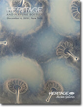 Catalog cover for 2010 December New York Signature Lalique, Art Glass and Perfume Bottles Auction