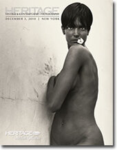 Catalog cover for 2010 December New York Signature Vintage & Contemporary Photography Auction