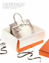 Catalog cover for 2015 December 8 Holiday Luxury Accessories Signature Auction - Dallas