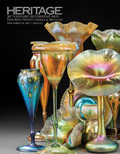 Catalog cover for 2017 November 14 20th Century Decorative Arts, featuring Tiffany, Lalique and Art Glass
