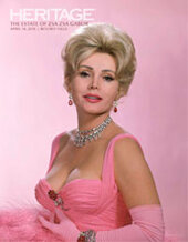 Catalog cover for 2018 April 14 The Estate of Zsa Zsa Gabor Signature Auction