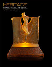 Catalog cover for 2018 November 15 Tiffany, Lalique & Art Glass including Art Deco & Art Nouveau - Dallas