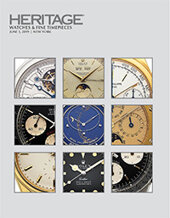 Catalog cover for 2019 June 3 Watches & Fine Timepieces Signature Auction - New York