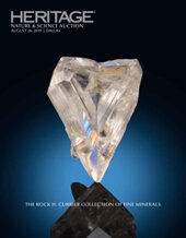 Catalog cover for 2019 August 26 Rock H. Currier Collection of Fine Minerals Signature Auction - Dallas