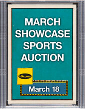 Catalog cover for 2021 March 18 Sports Monthly Showcase Auction