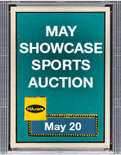 Catalog cover for 2021 May 20 Sports Monthly Showcase Auction