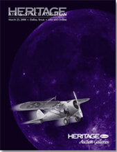 Catalog cover for 2008 March Grand Format Air & Space Auction