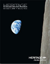 Catalog cover for 2008 October Signature Space Exploration Auction