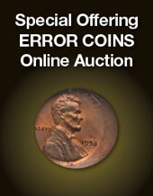 Catalog cover for 2019 September 10 Special Offering Error Coins Online Auction