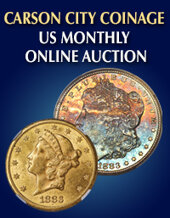 Catalog cover for 2019 December 15 Carson City Coinage US Coins Monthly Online Auction