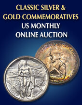 Catalog cover for 2020 January 15 Classic Silver and Gold Commemoratives US Coins Monthly Online Auction