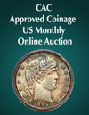 2020 March 15 CAC Approved Coinage US Coins Month-Long Online Auction
