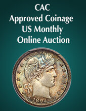 Catalog cover for 2020 March 15 CAC Approved Coinage US Coins Month-Long Online Auction