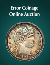 Catalog cover for 2020 April 15 Error Coinage US Coins Month-Long Online Auction