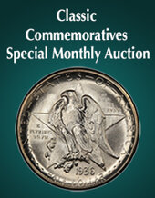 Catalog cover for 2020 May 15 Classic Commemoratives US Coins Month-Long Online Auction