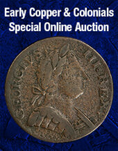 Catalog cover for 2020 July 15 Early Copper & Colonials US Coins Special Monthly Auction