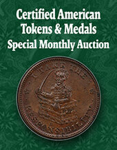 Catalog cover for 2020 August 22 Certified American Tokens & Medals US Coins Special Monthly Auction
