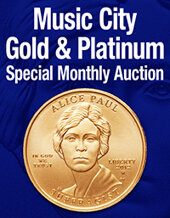 Catalog cover for 2020 August 29 Music City Gold & Platinum Special Monthly Auction