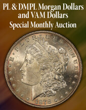 Catalog cover for 2020 October 15 PL & DMPL Morgan $'s & VAM $'S US Coins Special Monthly Auction