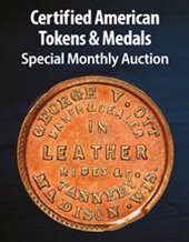 Catalog cover for 2020 December 22 Certified American Tokens & Medals US Coins Special Monthly Auction