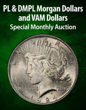 Catalog cover for 2021 January 8 PL & DMPL Morgan Dollars and VAM Dollars US Coins Special Monthly Auction