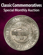 Catalog cover for 2021 January 15 Classic Commemoratives US Coins Special Monthly Auction
