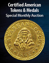 Catalog cover for 2021 January 21 Certified American Tokens & Medals US Coins Special Monthly Auction