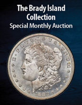Catalog cover for 2021 February 15 The Brady Island Collection of Morgan Dollars Special Monthly Auction