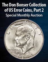 Catalog cover for 2021 March 8 The Don Bonser Collection of United States Error Coins, Part 2 US Coins Special Monthly Auction