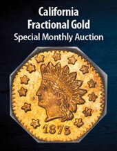 Catalog cover for 2021 March 15 California Fractional Gold US Coins Special Monthly Auction