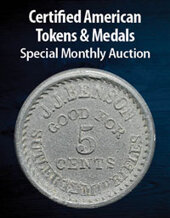 Catalog cover for 2021 April 8 Certified American Tokens & Medals US Coins Special Monthly Auction