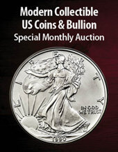Catalog cover for 2021 April 22 Modern Collectible US Coins & Bullion Special Monthly Auction