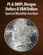 Catalog cover for 2021 May 8 PL & DMPL Morgan $'s & VAM $'S Special Monthly Auction
