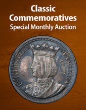 Catalog cover for 2021 May 15 Classic Commemoratives US Coins Special Monthly Auction