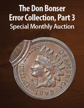 Catalog cover for 2021 May 22 Don Bonser Error Collection, Part 3 US Coins Special Monthly Auction