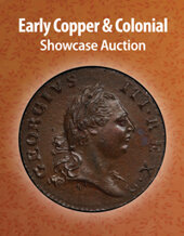 Catalog cover for 2021 July 8 Early Copper & Colonial US Coins Showcase Auction