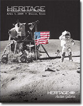 Catalog cover for 2009 April Signature Space Exploration Auction