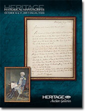 Catalog cover for 2009 October Grand Format Historical Manuscripts Auction