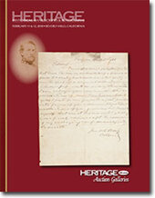 Catalog cover for 2010 February Signature Historical Manuscripts Auction