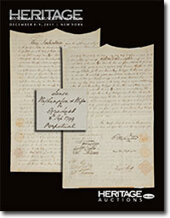Catalog cover for 2011 December 8-9 Manuscripts Grand Format Auction- New York