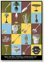 Catalog cover for Silver, Art Glass, Paintings and Decorative Arts