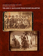 Catalog cover for 2013 September 21 Legends of the West Signature Auction - The John N. McWilliams Texas Ranger Collection - Dallas