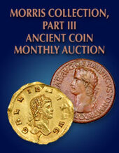 Catalog cover for 2020 January 26 Ancient Coin Selections from the Morris Collection, Part III World Coins Monthly Online Auction