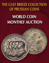Catalog cover for 2020 February 2 The Gulf Breeze Collection of Prussian Coins World Coins Monthly Online Auction