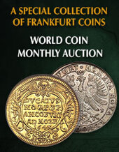 Catalog cover for 2020 February 9 A Special Collection of Frankfurt Coins World Coins Monthly Online Auction