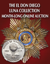 Catalog cover for 2020 March 29 The El Don Diego Luna Collection World Coins Month-long Online Auction